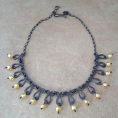 Sterling Silver Vintage Inspired Necklace with Murano Beads