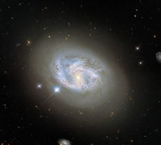 This image, taken with Hubble's Wide Field Camera 3, features the spiral galaxy NGC 4680. Galaxy Photos, Galaxy Pictures, Hubble Space Telescope, Space And Astronomy, Telescope Images, Cosmos, Nasa, Field Camera, Other Galaxies