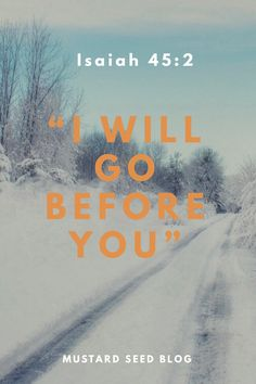 God Clears Your Path Over the last few days we had a fall of snow that was heavier than normal for this little part of Northern Ireland. Our house is at the top of a high hill, so of course that me…