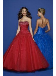 princess prom dress long winter red blue
