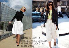 Manual de estilo: Cómo lucir una falda midi #fashion #fall