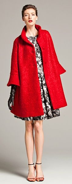 Beautiful coat with a vintage feel from Carolina Herrera's Fall 2013 Collection.