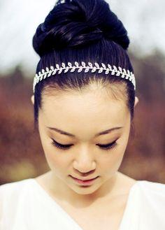 HAYLEY  Rhinestone Bridal Headband in Silver by SomethingIvory, $58.00