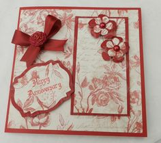 Ruby wedding anniversary card