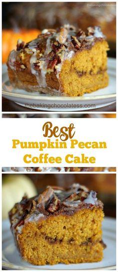 Best Pumpkin Pecan Coffee Cake via @https://www.pinterest.com/BaknChocolaTess/