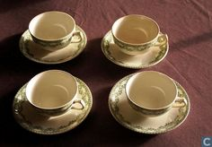 Pottery/China - Carlotta - koffiekopjes met bordjes
