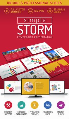 Glory presentation business pack powerpoint template pinterest simple storm 20 v powerpoint presentation template toneelgroepblik Gallery