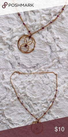 Pendant Style Necklace Beautiful necklace. Gold and purple/burgundy. Jewelry Necklaces