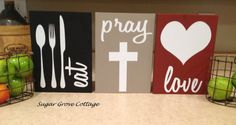 Eat Pray Love Signs by SugarGroveCottage on Etsy, $35.00