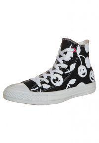 Converse - CHUCK TAYLOR ALL STAR HI CHERRY - Sneakers hoog - black/white