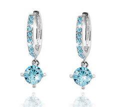 Vận chuyển miễn phí bridal top chất lượng mạ vàng Zircon Thạch áo Pha Lê Vòng Thả bán sỉ thời trang bông tai trang sức