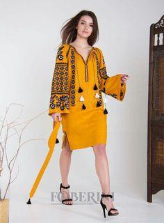 Stylish Dresses For Girls, Simple Dresses, Casual Dresses, Embroidery Fashion, Embroidery Dress, Folk Fashion, Girl Fashion, Abaya Fashion, Fashion Dresses