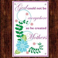 Mothers day printable poster