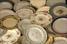 our eclectic mix of china plates $1 each