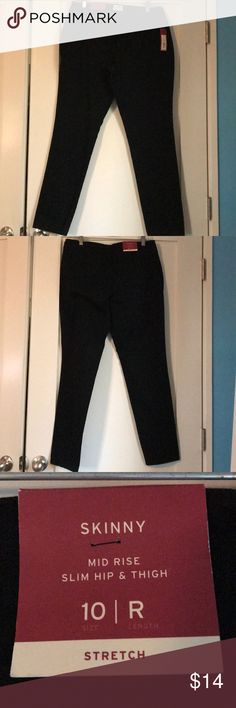 Merona black skinny women's pants Merona black skinny women's pants. Size 10. New with tags! Merona Pants Skinny