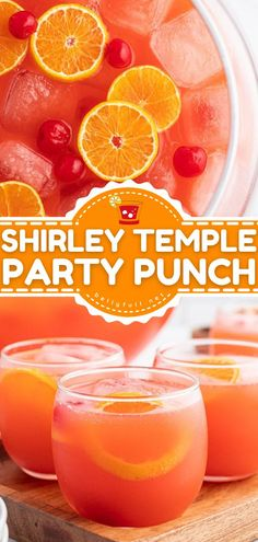 Hosting a big group? Here's the perfect summer drink! With all the classic Shirley temple ingredients plus orange juice, this party punch recipe serves a crowd. Everyone will love this non-alcoholic drink! Punch Recipe For A Crowd, Best Punch Recipe, Easy Punch Recipes, Simple Recipes, Orange Alcoholic Drinks, Alcoholic Punch Recipes, Cocktail Recipes, Cocktails, Shirley Temple Ingredients