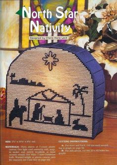 North Star Nativity have this Plastic Canvas Ornaments, Plastic Canvas Crafts, Plastic Canvas Patterns, Nativity Silhouette, Christmas Wall Hangings, Plastic Canvas Christmas, Canvas Designs, Christmas Cross, Holiday Crafts