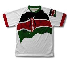 Kenya Flag Technical T-Shirt for Men and Women - Size XS