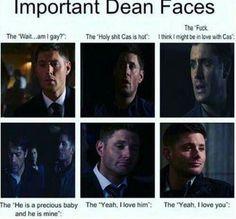 it's no secret that Deans iove with Cas.