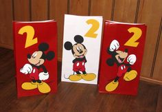 Mickey Mouse Party Favor Bags 10 Count by AddiBugCreations on Etsy, $25.00