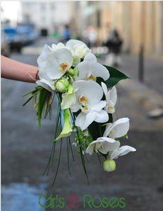 bouquet retombant, orchidées