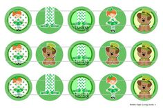 15 Lucky Socks 1 Digital Download for 1 Bottle Caps by MaddieZee, $1.25