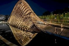 Image 32 of 70 from gallery of Bamboo Pavilion / ZUO STUDIO. Photograph by Yang Shihong (Amoi Building studio photography and art) Parametric Architecture, Pavilion Architecture, Sustainable Architecture, Amazing Architecture, Contemporary Architecture, Landscape Architecture, Landscape Design, Architecture Design, Residential Architecture