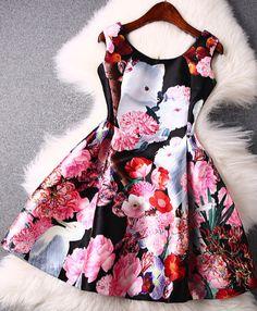 103846a58bf Floral print dress Simple Dresses