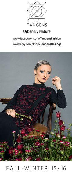 Flapper Dress / Gatsby Dress / Burgundy Dress / Evening Gown / Art Deco Dress / 1920s Dress / Long Sleeve Dress / Red Winter Dress /Tangens