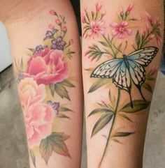 I love my saturated color, full coverage flower garden sleeve, but this is so delicate, it's beautiful!