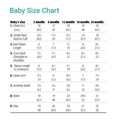Infant And Child Size Chart Now I Can Quit Googling For UkUs