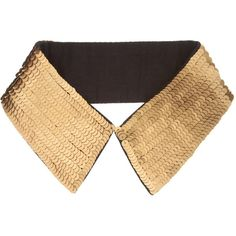 Asos Gold Sequin Collar ($24) ❤ liked on Polyvore