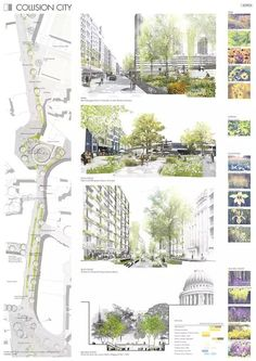Constantin Boes & Julia Ulrich Collision City, London (UK), via cometiti. - Constantin Boes & Julia Ulrich Collision City, London (UK), via cometiti… – - Villa Architecture, Landscape Architecture Model, Landscape And Urbanism, Architecture Graphics, Landscape Plans, Urban Landscape, Architecture Diagrams, Rendering Architecture, Park Landscape