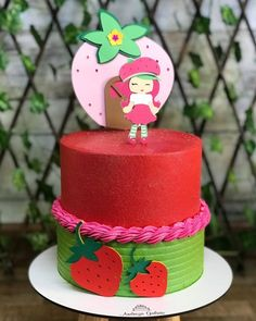 Strawberry Shortcake, 1st Birthday Parties, Cake Designs, Cake Recipes, Minnie Mouse, Deserts, My Favorite Things, Party, Cakes