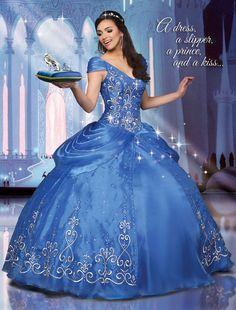 Disney Royal Ball | Quinceanera Dresses | Quinceanera Dresses by Disney Royal Ball In Tiffany.  (41064)