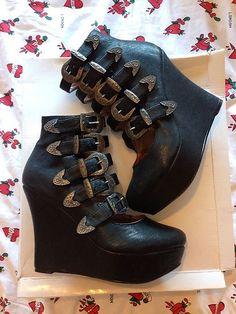 Office-Wellington-Kings-Wedge-Platform-Boots-goth-lady-gaga-kat-von-d-bondage