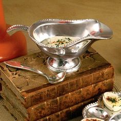 For the holiday table, a gravy boat is a must have accessory.  Only $65.00