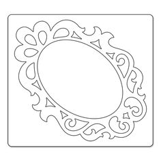 Die Cutters / Embossers > Frames & Scrollwork Bigz Die - Sizzix: A Cherry On Top Diy And Crafts, Paper Crafts, Baby Frame, Frame Template, Frame Crafts, Scrapbook Supplies, Craft Supplies, Paper Cutting, Picture Frames