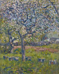 """""""Trees in Bloom,"""" Charles Salis Kaelin, ca. 1920, oil on canvas, 25 x 20"""", private collection."""