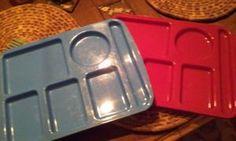 Set of four large trays