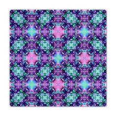 Turquoise Purple Fractal Pattern Queen Duvet > Blue / Turquoise Fractal Art Gifts > Hippy Gift Shop Funky Hippie Gifts