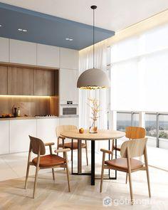 Đã mắt với BST thiết kế nội thất phòng bếp siêu đẹp - Gotrangtri.vn Minimalist Interior, Modern Interior, Interior Architecture, Interior Design, Contemporary Bedroom Furniture, Modern Kitchen Design, Apartment Interior, Living Room Furniture, Dining Table