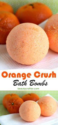 Orange Crush Bath Bomb Recipe - Easy DIY Orange Bath Bombs, for a refreshing therapeutic bath . great as a homemade gift. Orange Crush Bath Bomb Recipe - Easy DIY Orange Bath Bombs, for a refreshing therapeutic bath . great as a homemade gift. Diy Beauté, Diy Spa, Easy Diy, Diy Crafts, Fun Diy, Simple Diy, Homemade Beauty, Homemade Gifts, Easy Gifts