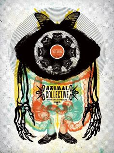 Animal Collective (Sept.11.2007 - First Avenue Minneapolis, MN) rock psychedelic concert poster
