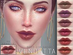 The Sims Resource: Vendetta  - Deep Lip Colour • Sims 4 Downloads