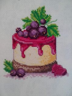 This Pin was discovered by Nej Cross Stitching, Cross Stitch Embroidery, Cross Stitch Kitchen, Cross Stitch Needles, Cross Stitch Designs, Bargello, Diy And Crafts, Cupcake, Pattern