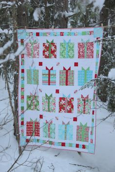 Flurry Quilt pattern -Christmas