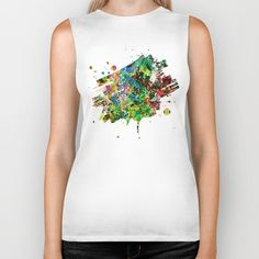 City Jungle Biker Tank by KN_COLLECTION | Society6