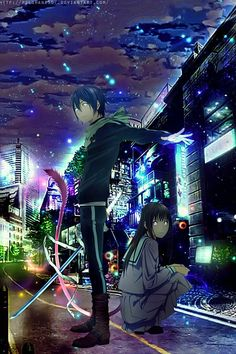 Noragami - Yato e Hiyori. Yatogami Noragami, Anime Noragami, Manga Anime, Yato And Hiyori, Fanart Manga, Anime Art, Neue Animes, Couples Anime, Yatori