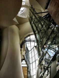 The atrium of the Guggenheim Bilbao, Spain. (c) GTH & Nathan DePetris